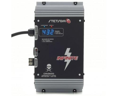 Carregador Hibrido Stetsom CHV3000 para Sistemas Alta Voltagem 12V - 432V - 16 Amperes
