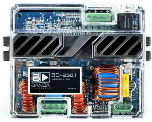 Módulo Amplificador Digital Banda BD 250.1 Canal - 250 Watts RMS - 4 Ohms