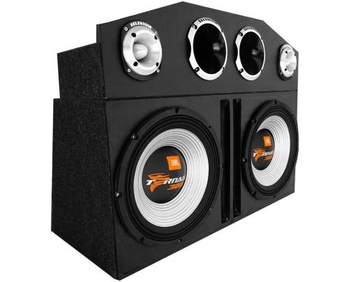Caixa Amplificada Trio 2 JBL Tornado 3000, 2 D405 Trio, 2 ST400 + Módulos + Caixas