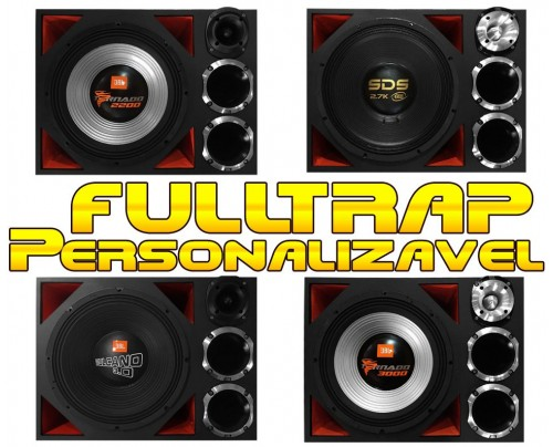 Caixa Full Trap Trio Personalizável JBL Eros Taramps 15 Pol. + 2 Drivers + Super Tweeter MOD. 1