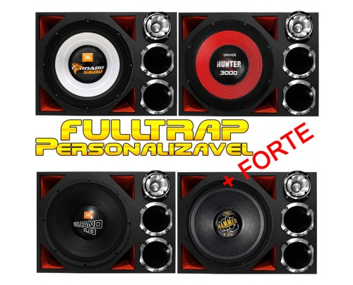 Caixa Full Trap Trio Personalizável JBL Eros Taramps 15 Pol. + 2 Drivers + Super Tweeter MOD. 2 + FORTE