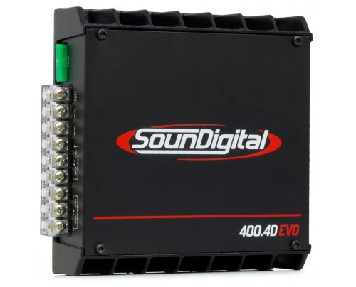 Módulo Amplificador Digital SounDigital SD400.4D EVO II - 4 Canais - 500 Watts RMS