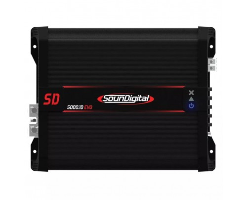 Módulo Amplificador Digital SounDigital SD5000.1D 2 Ohms Evolution II EVO 2 - 1 Canal - 5700 Watts RMS
