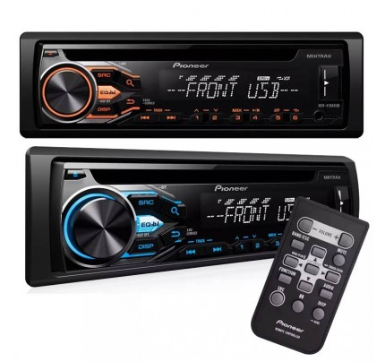 CD Player Automotivo Pioneer DEH-X1880 com Entrada USB, Rádio FM/AM, Interface para Android e Entrada Auxiliar Frontal