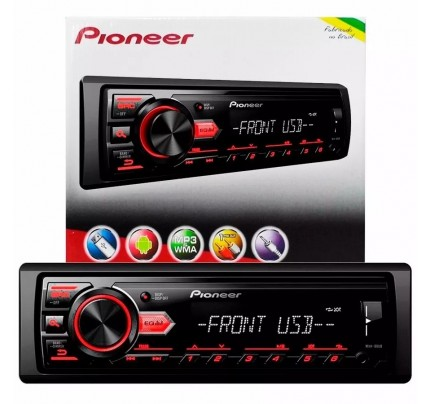 Som Automotivo Media Receiver MVH-88UB Pioneer MP3 AM/FM com Entrada USB