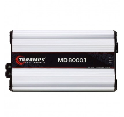 Módulo Amplificador Digital Taramps MD 8000 - 1 Canal - 8000 Watts RMS - 2 Ohm
