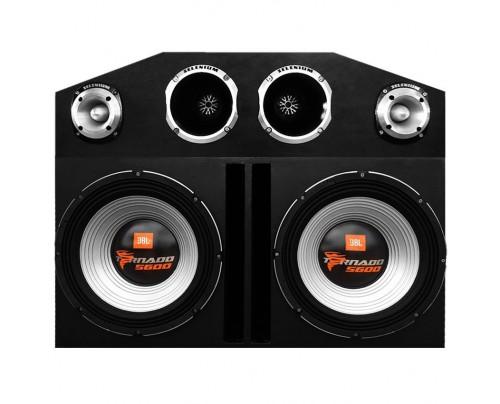 Caixa Amplificada Trio 2 JBL Tornado 5600, 2 D405 Trio, 2 ST400 + Módulos + Caixa
