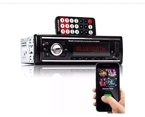 RADIO AUTOMOTIVO CARRO FM BLUETOOTH ACEITA CELULAR IPOD TOCA MP3