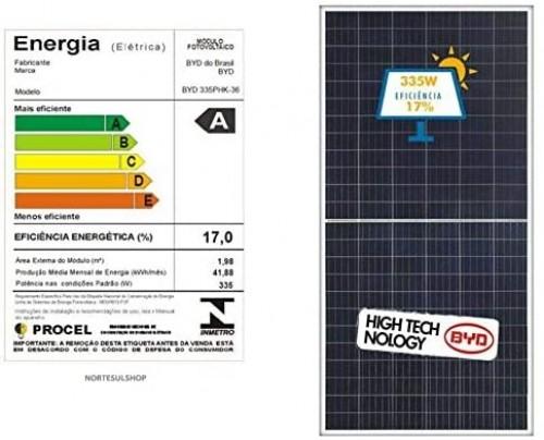 Módulo/painel/placa Solar Fotovoltaica 335w BYD Policristalino