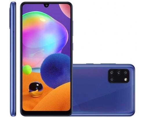 Samsung Galaxy A31 Azul, Tela de 6,4, 4G, 128GB e Camera de 48MP + 8MP + 5MP + 5MP