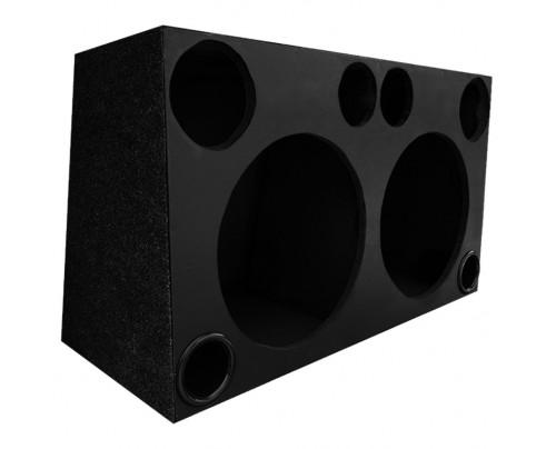 Caixa para 2 Alto-falantes 15 Pol. até 1600 RMS cada + 2 Drivers + 2 Super Tweeters