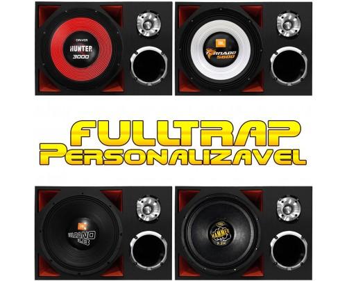 Caixa Full Trap 15 Pol + Driver 2 Pol. + ST Personalizável MOD. 2 (+FORTE)