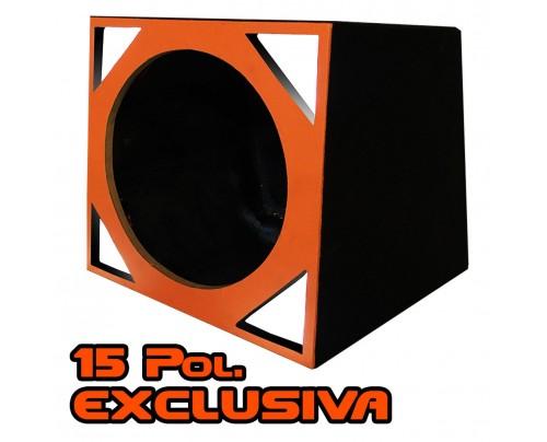 Caixa Full Trap duto triangular para um Alto-falante de 15 Pol.
