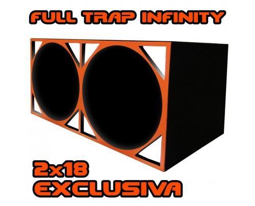 Caixa Full Trap duto triangular para 2 Alto-falantes de 18 Pol.
