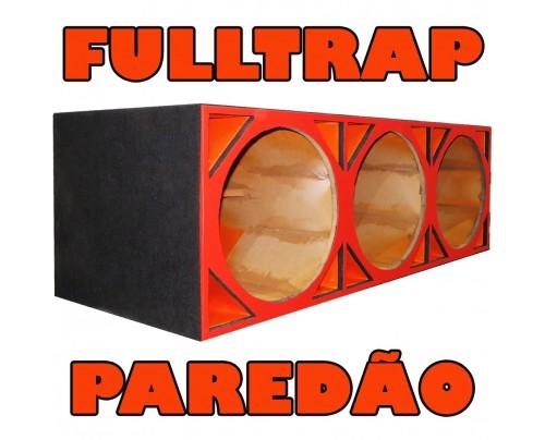 Caixa Full Trap Paredão duto triangular para 3 Alto-falantes de 15 Polegadas
