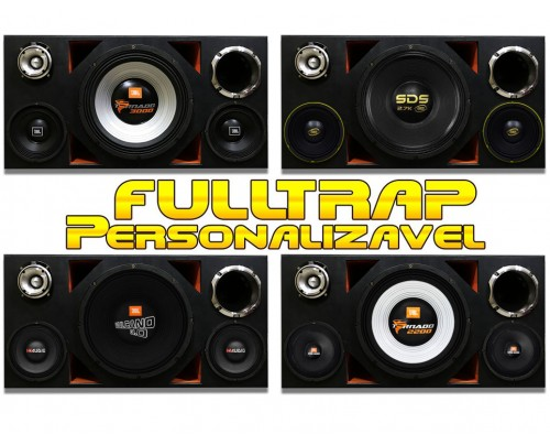 Caixa Full Trap Trio Personalizável 15 Pol. + Driver 2 Pol + Médios + Super Tweeter MOD. 1