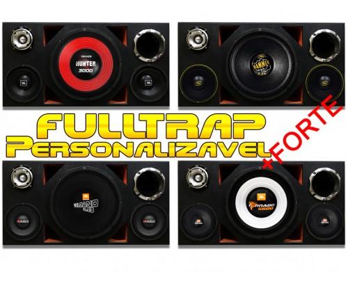 Caixa Full Trap Trio Personalizável 15 Pol. + Driver 2 Pol + Médios + Super Tweeter MOD. 2 + FORTE