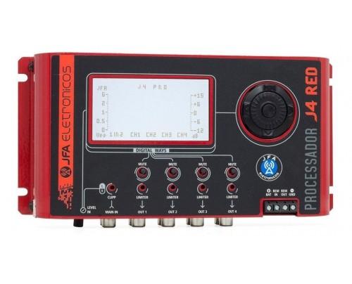 Processador De Audio Digital Jfa J4 Pro Red Edition 4 Vias
