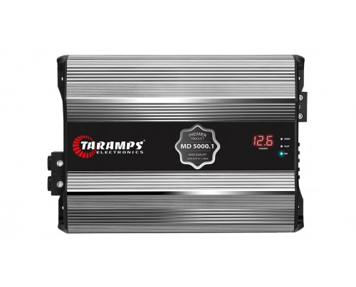 Módulo Amplificador Digital Taramps MD5000.1 PREMIER com extensor LED CLIP + Voltímetro
