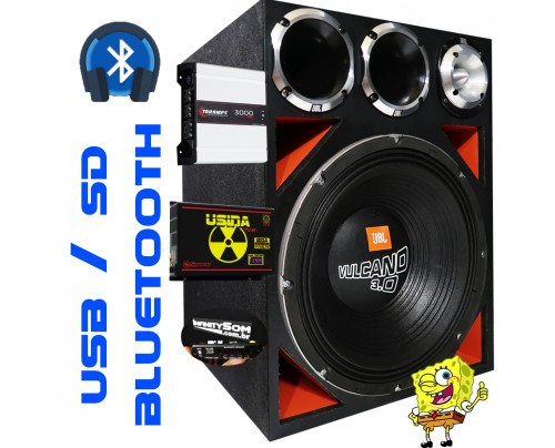 Caixa Full Trap JBL Vulcano 3.0 15 Pol  + Taramps 3000 Trio + 2 D200 + ST400 + Usina 120