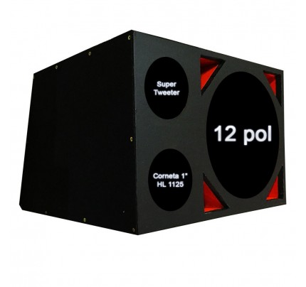 Caixa Full Trap trio de 12 Pol. 1 Driver e um Super Tweeter