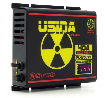 Fonte Automotiva Digital Spark Usina 40A Plus+ Smart Cooler - Bivolt - Multímetro e Amperímetro