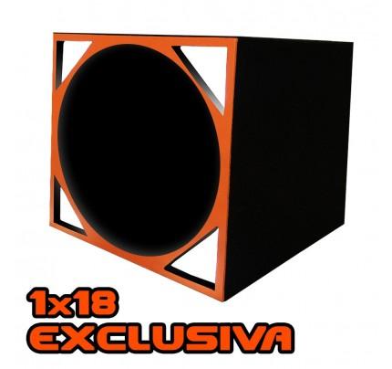 Caixa Full Trap duto triangular para Alto-falante de 18 Pol.