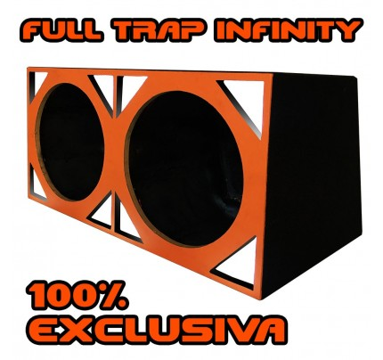 Caixa Full Trap duto triangular para 2 Alto-falantes de 15 Pol.